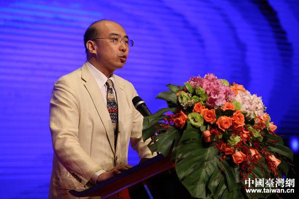全国台联副会长纪斌致辞。(中国台湾网 袁楚 摄)