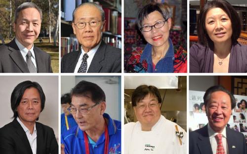 今年女王寿辰获授勳的其中8名华人。(来源:澳大利亚《星岛日报》)