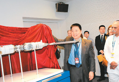 中国在维也纳展示航天合作成就