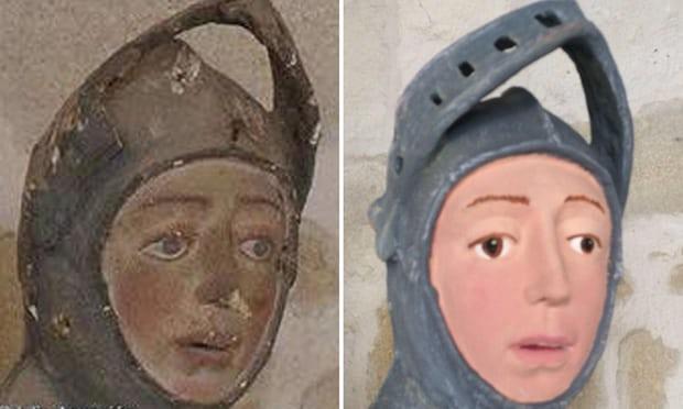 500年前圣像毁于女教师之手 修复后惨不忍睹(图)