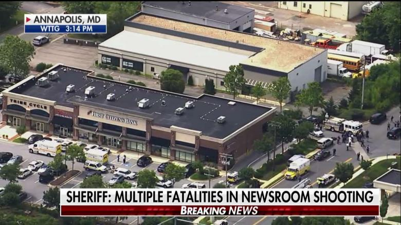 美马里兰州一新闻编辑室发生枪击事件 致5死多伤