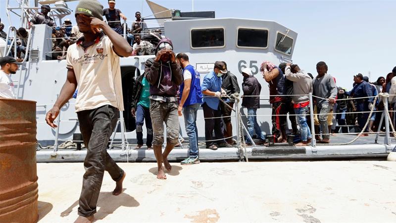 利比亚海岸警卫队共营救14名幸存者(图片来源:路透社)