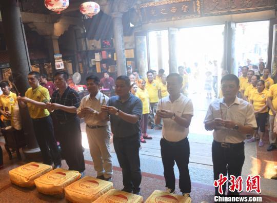 湄洲妈祖祖庙见证鹿港湄洲妈祖分灵海南临高天后宫