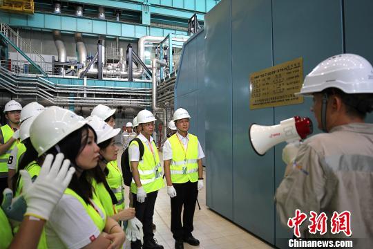 澳门青年代表参观台山核电EPR三代核电全球首堆工程 雪莎 摄