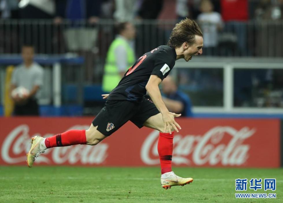 克罗地亚队淘汰英格兰队 首进决赛