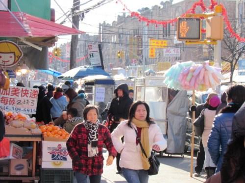 布鲁克林8大道近年来有愈来愈多福州移民迁入。(图片来源:美国《世界日报》/颜嘉莹摄)