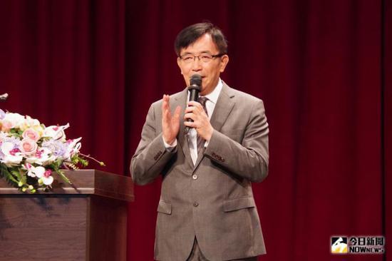 """吴宏谋6日称所谓""""反制""""措施不是自己说的(图片来源:台湾""""Now新闻"""")"""