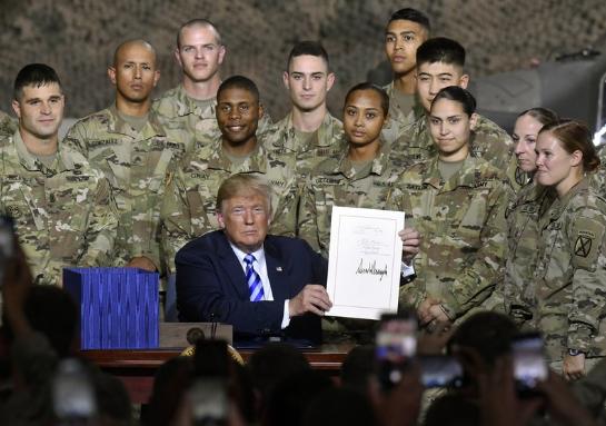 """用""""军事第一""""保障""""美国第一"""",靠谱吗?"""