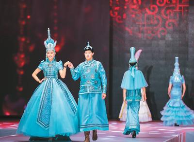 蒙古族时装帽饰展演