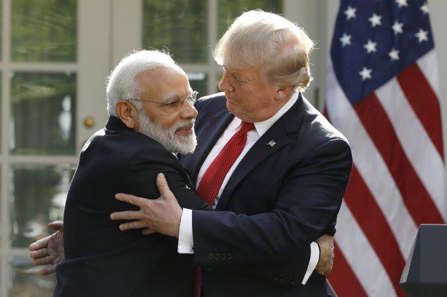资料图:美国总统特朗普与印度总理莫迪