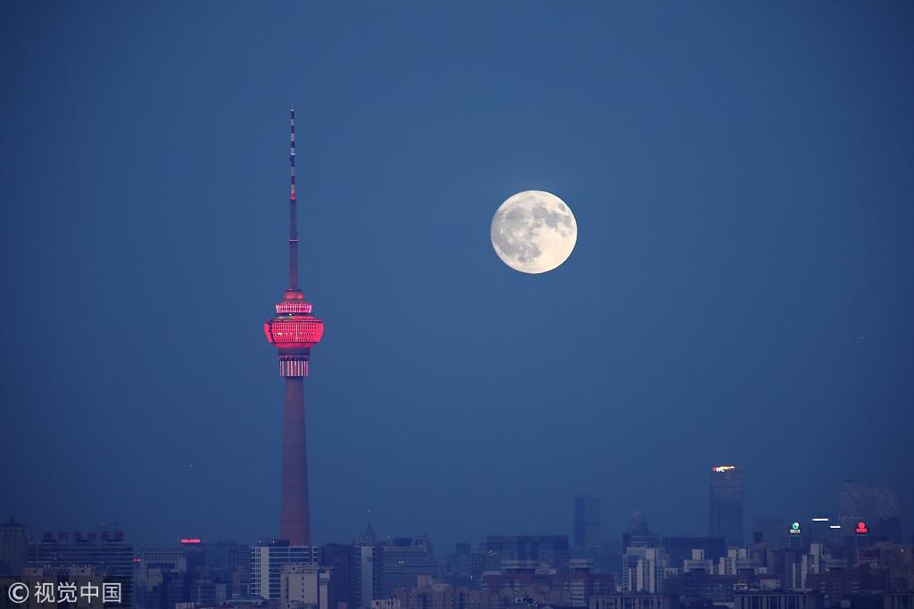 中秋佳节月亮圆 各地齐赏月