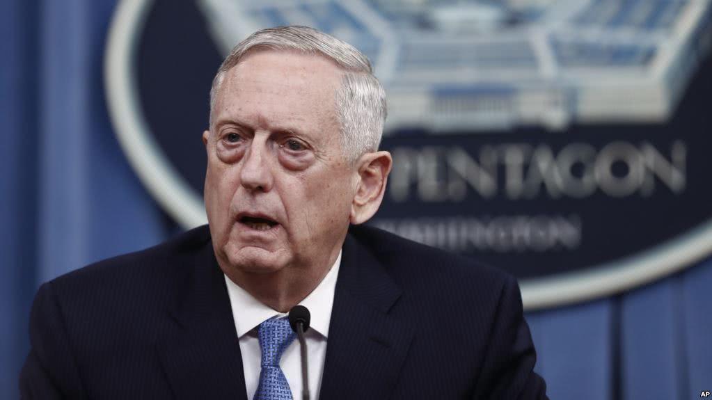 美国防长马蒂斯:中美两国关系不会恶化,一个中