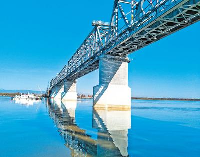 中俄首座跨界河铁路大桥中方段主体工程完成
