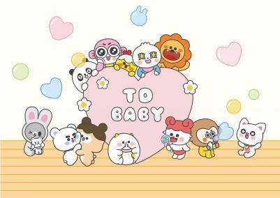 相较于成人版的12星座,星萌宝宝形象在形体上更加软萌可爱,用色风格更