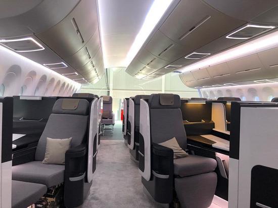 珠海航展上展出的CR929样机乘客舱