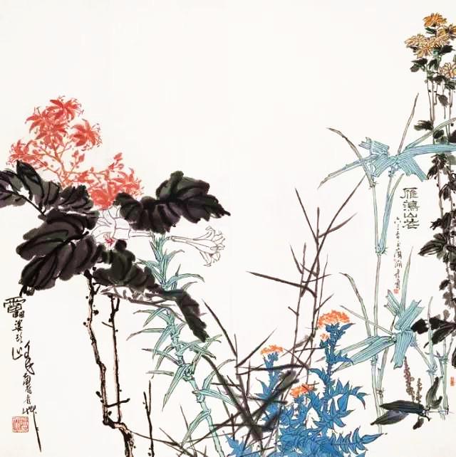 潘天寿 1963年作 雁荡山花.jpg