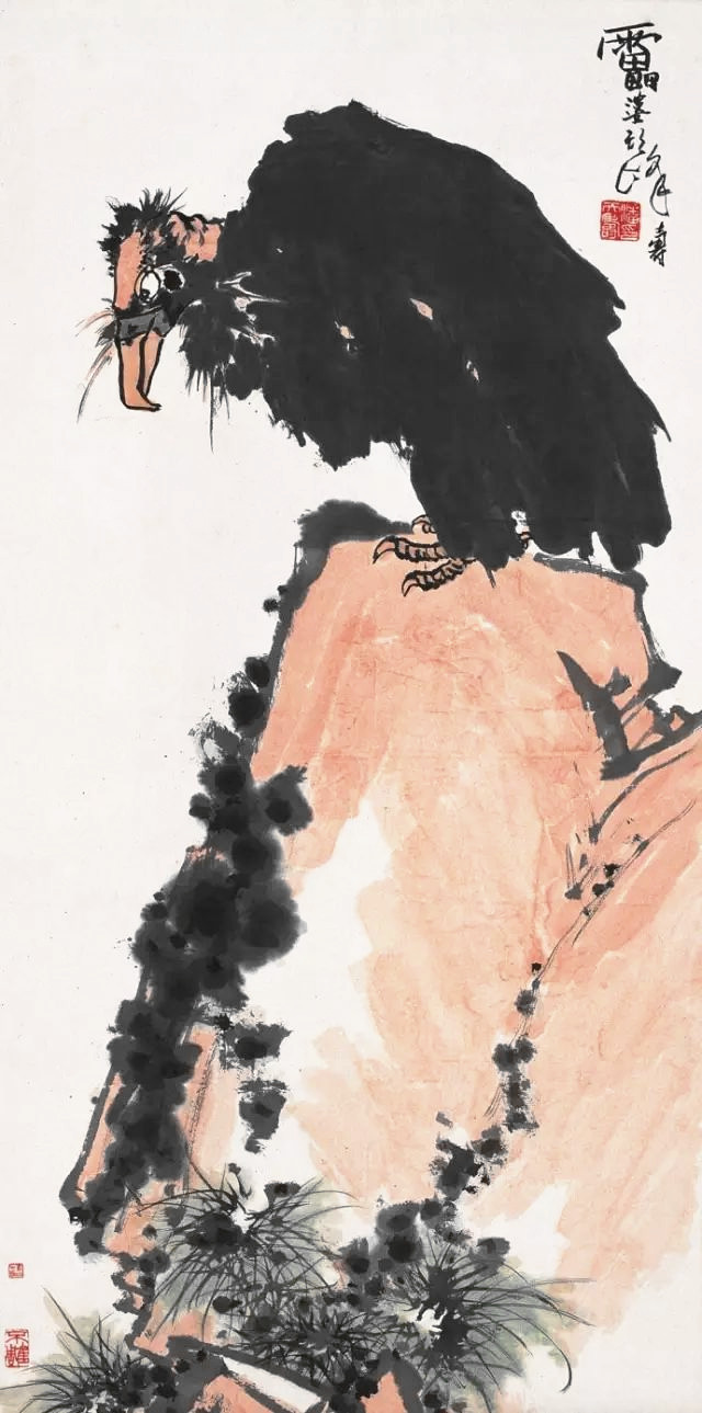 潘天寿 鹰138×69cm.jpg