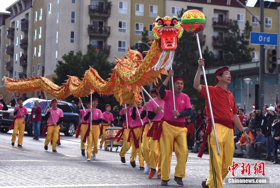 第120届金龙大游行登场 洛杉矶各族裔同庆中国春节