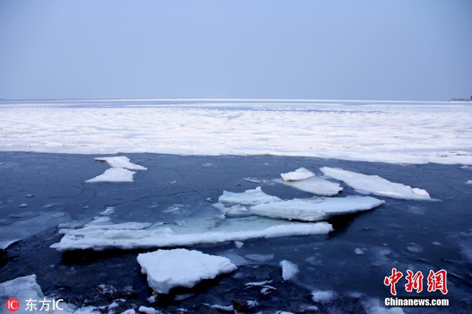 大连气温持续走低 渤海海冰重现