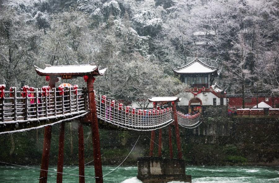 雪中夫妻桥