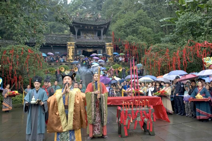 都江堰城隍庙祈福