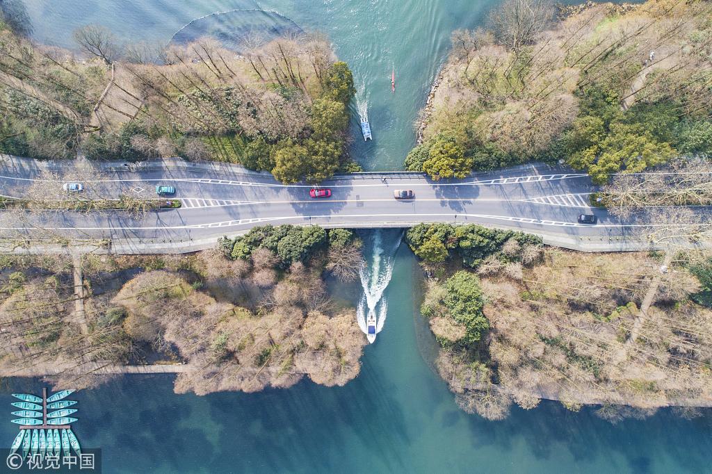 杭州阳光明媚 西湖景美如画