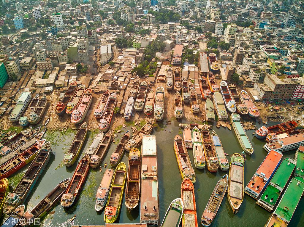 """孟加拉船只出口贸易增长 500艘船""""挤爆""""港口"""