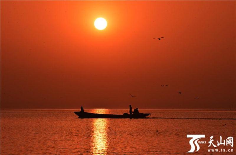 新疆博斯腾湖美景入画来