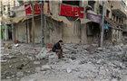 空袭过后加沙城一片废墟