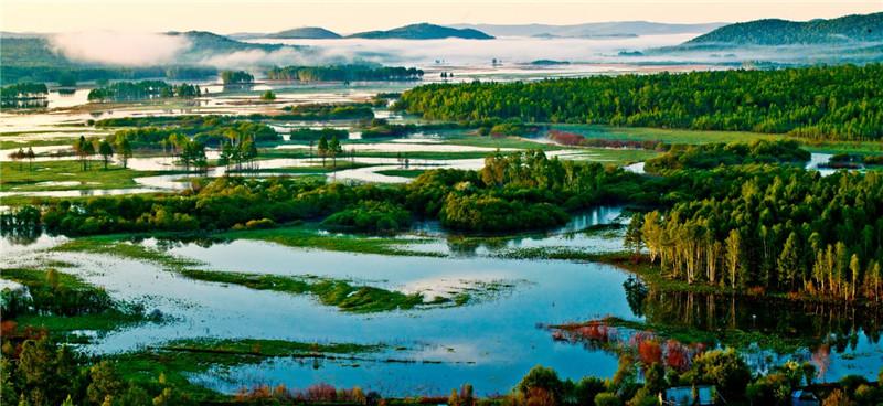 """""""湿地游""""成生态风景线 览湿地风光 游壮美龙江"""