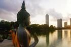 科倫坡貝拉湖水中廟
