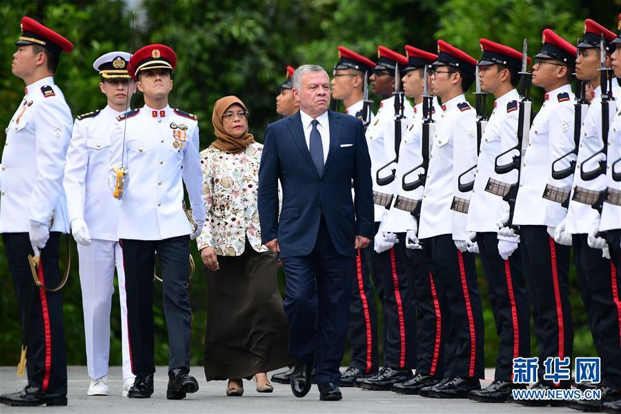 约旦国王阿卜杜拉二世拜访新加坡