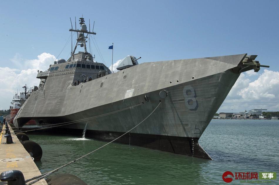 美军科幻三体舰再赴新加坡常驻 此前妨碍频发
