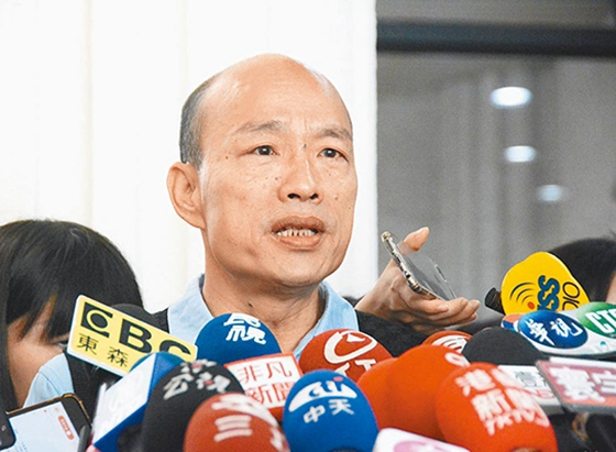 力图勾结!初选记者会后 韩国瑜给郭台铭发了如许一条短信