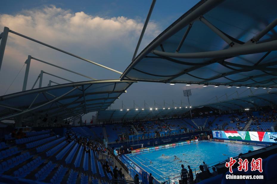 光州世锦赛:男子水球意大利队战胜匈牙利队