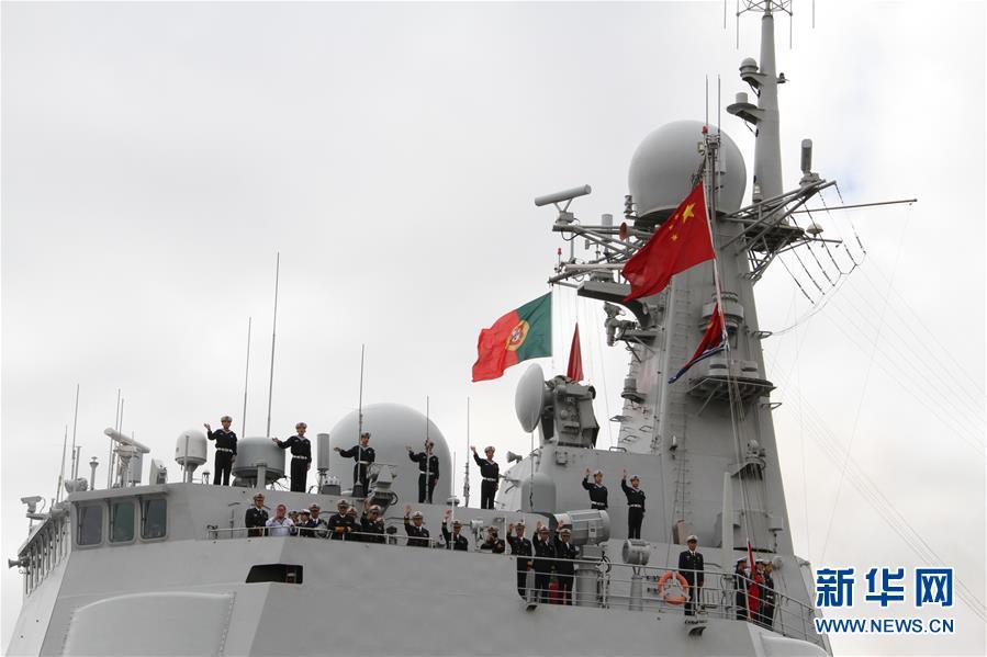 中国海军西安舰抵达里斯本港开启技术补给