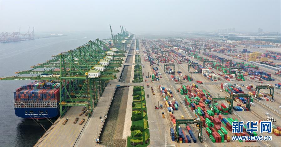 天津滨海区:走进人工深水大港——天津港