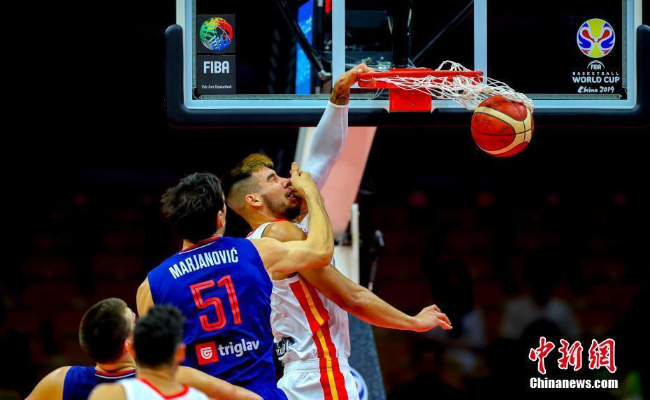 2019男篮世界杯:西班牙战胜塞尔维亚获小组第一