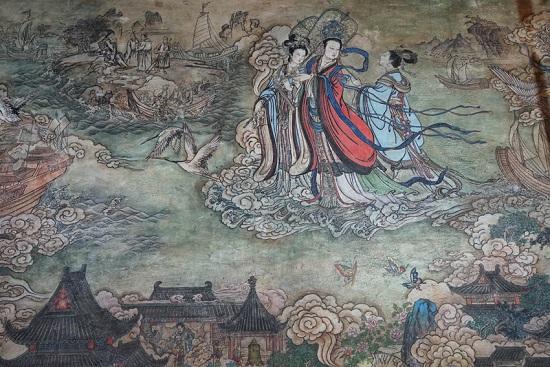 天津天后宫举办壁画《天后圣迹图》修复告竣活动
