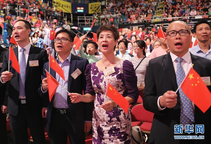 (图文互动)(4)香港岛各界举行文艺晚会庆祝新中国成立70周年