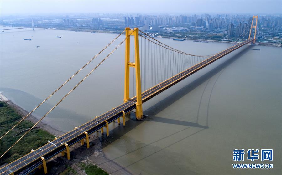 长江上首座双层公路武汉杨泗港长江大桥通车