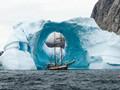 格陵兰冰门如时光被冻结
