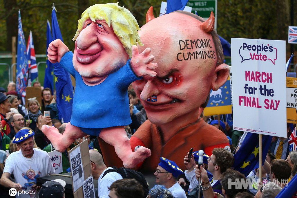 """脱欧""""战役""""蔓延 伦敦万人游行要求再次公投"""