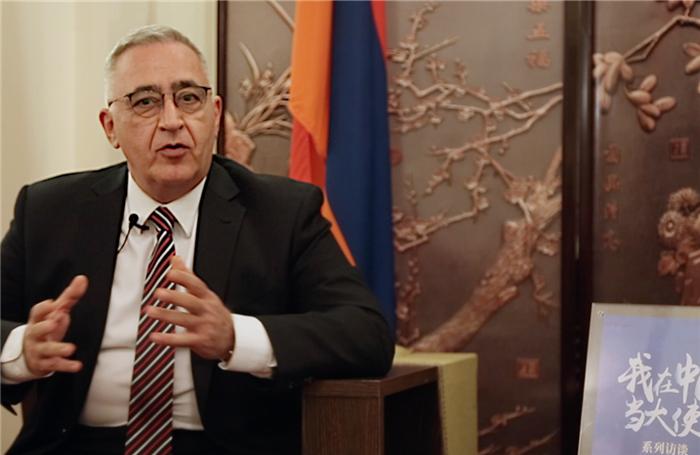 中文8级!亚美尼亚大使中文写得这么棒!