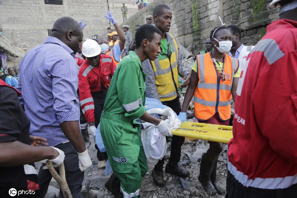 肯尼亚首都一房屋倒塌 至少4人死亡多人被困