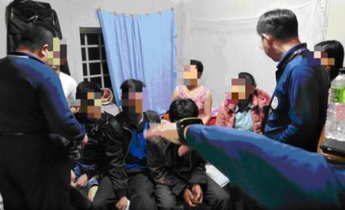 """资料图:台当局""""移民署""""查获脱团的越南人士。图片来源:台湾《中时电子报》 陈鸿伟/翻摄"""