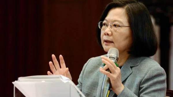 1月5日,蔡英文举行记者会。(图片源自外媒)