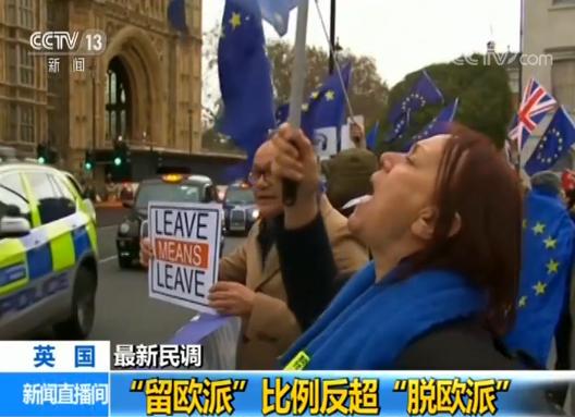 英国脱欧悬了?最新民调:56英国人愿留在欧盟