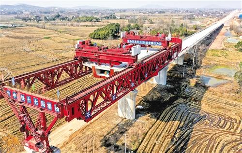 合安高铁庐江段今年底建成通车
