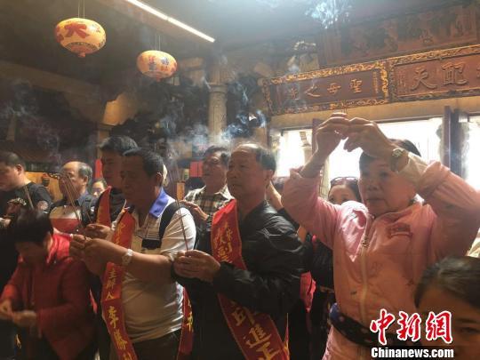 """台湾高雄信众连续三年赴""""妈祖故乡""""湄洲岛谒祖进香"""